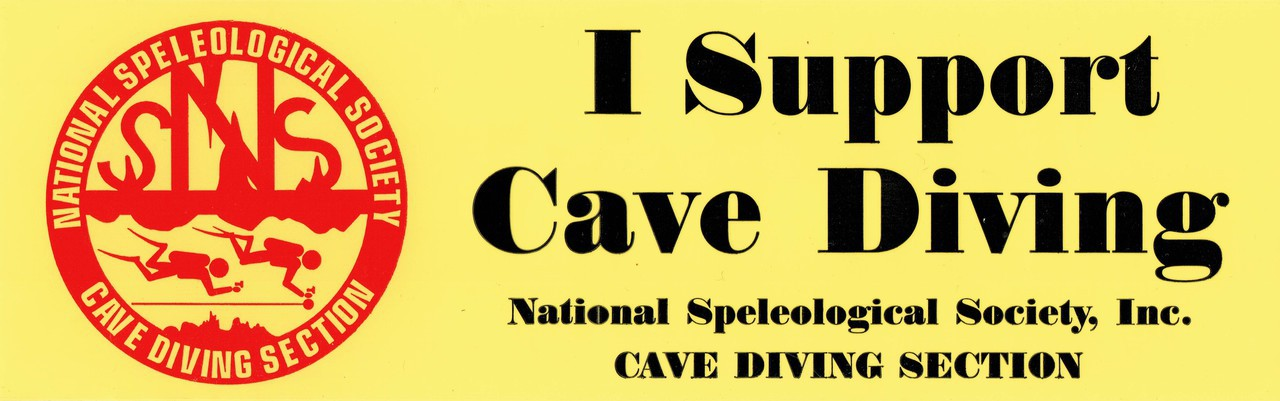 Bumper Sticker - I Support Cave Diving